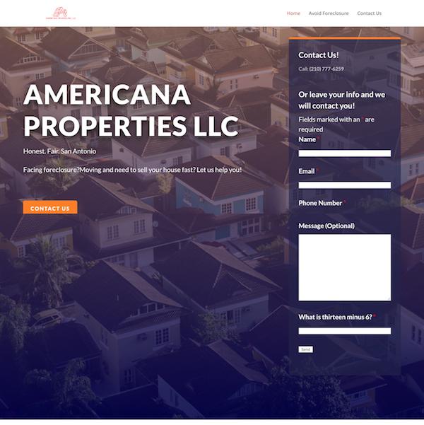 Website Developer Americana Properties LLC