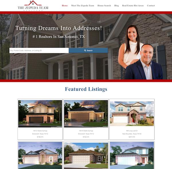 zepeda team real estate website
